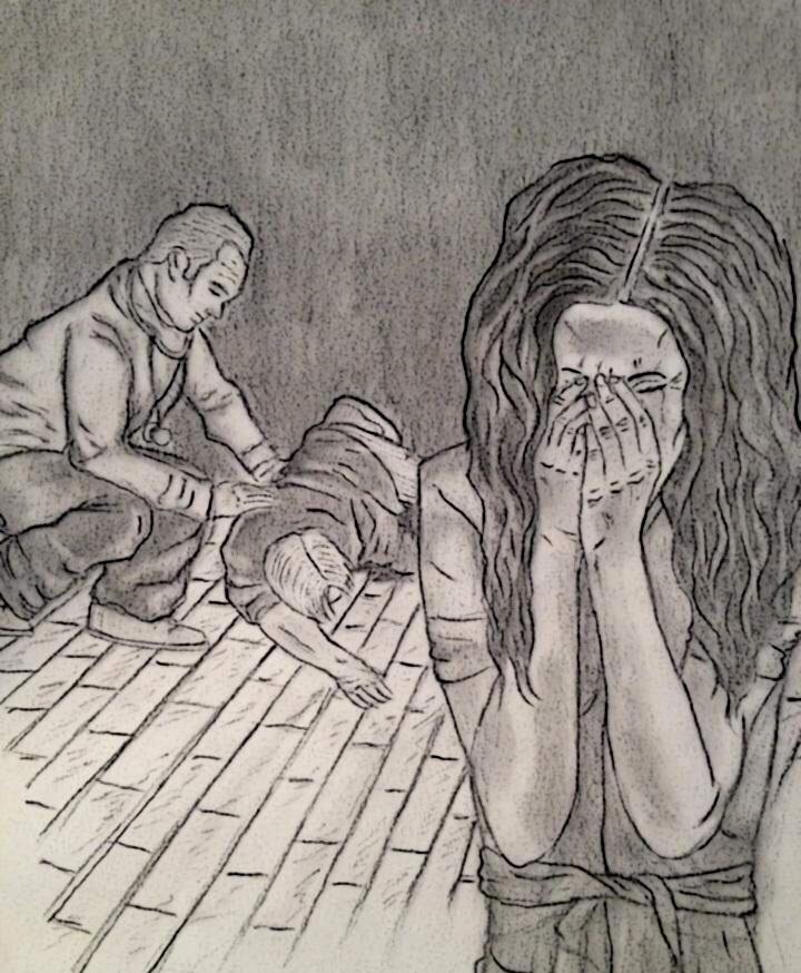 2 girl crying
